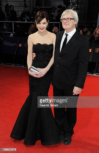 Actress Elizabeth McGovern and Simon Curtis arrives at the Orange British Academy Film Awards 2012 at The Royal Opera House on February 12 2012 in...