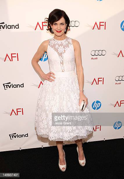 Actress Elizabeth McGovern arrives at The 40th AFI Life Achievement Award Honoring Shirley MacLaine sponsored by Audi at Sony Pictures Studios on...