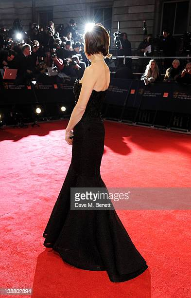 Actress Elizabeth McGovern arrives at the Orange British Academy Film Awards 2012 at The Royal Opera House on February 12 2012 in London England