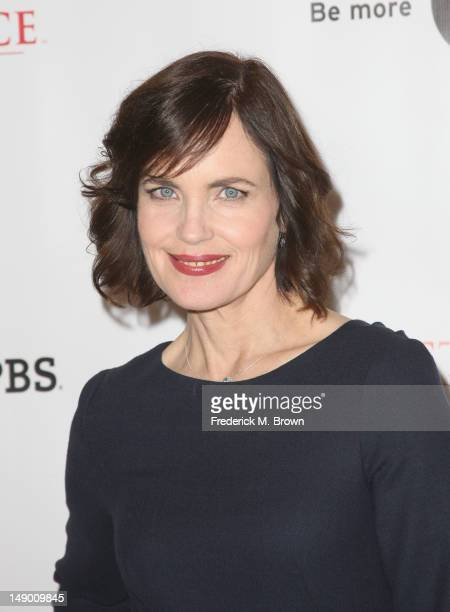 Actress Elizabeth McGovern attends the Masterpiece Classic 'Downton Abbey Season 3' panel during day 1 of the PBS portion of the 2012 Summer TCA Tour...