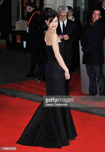 Actress Elizabeth McGovern attends the Orange British Academy Film Awards 2012 at the Royal Opera House on February 12 2012 in London England
