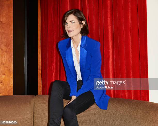 Actress Elizabeth McGovern is photographed for New York Times on August 24 2017 at Chatwal Hotel in New York City