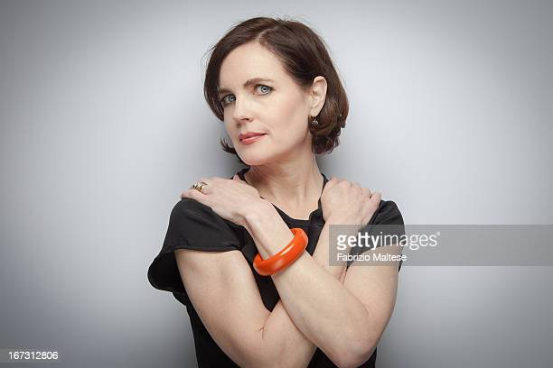 Actress Elizabeth McGovern is photographed for Self Assignment at Tribeca film festival on April 21 2012 in New York City