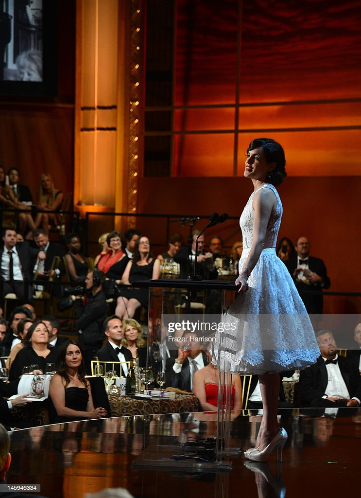 Actress Elizabeth McGovern onstage at the 40th AFI Life Achievement Award honoring Shirley MacLaine held at Sony Pictures Studios on June 7, 2012 in Culver City, California. The AFI Life Achievement Award tribute to Shirley MacLaine will premiere on TV Land on Saturday, June 24 at 9PM