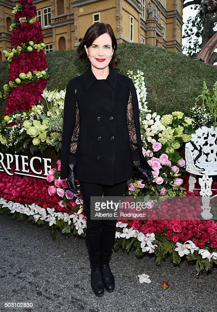 Actress Elizabeth McGovern participates in the 127th Tournament of Roses Parade presented by Honda on January 1 2016 in Pasadena California