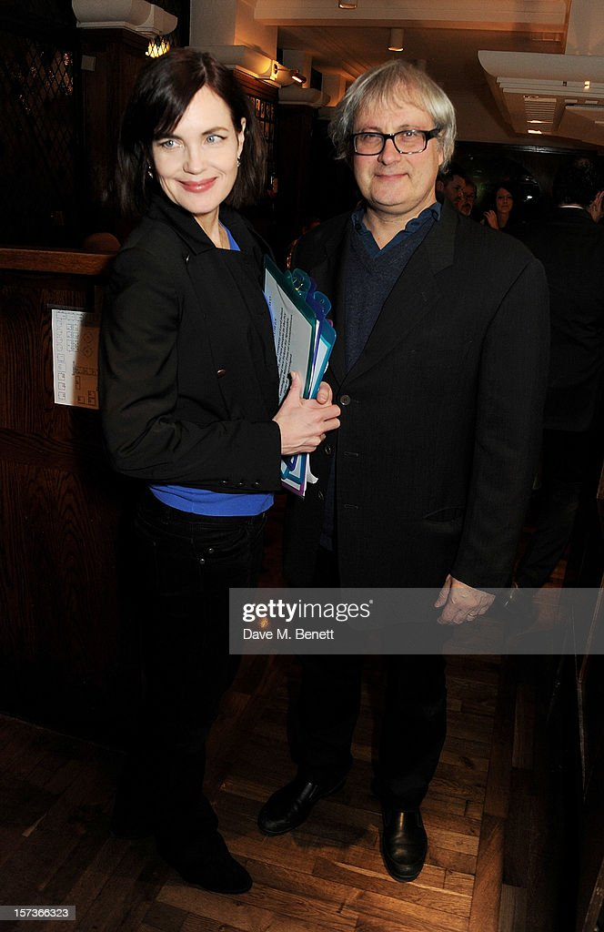 Actress Elizabeth McGovern (L), working as a hostess, and husband Simon Curtis attend One Night Only at The Ivy, featuring 30 stage and screen actors working as staff during dinner at The Ivy, in aid of The Combined Theatrical Charities, on December 2, 2012 in London, England.