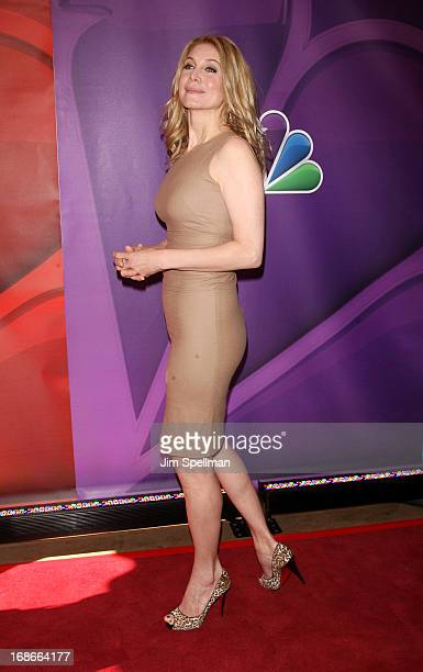 Actress Elizabeth Mitchell attends 2013 NBC Upfront Presentation Red Carpet Event at Radio City Music Hall on May 13 2013 in New York City