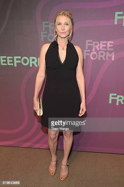 Actress Elizabeth Mitchell attends 2016 ABC Freeform Upfront at Spring Studios on April 7 2016 in New York City