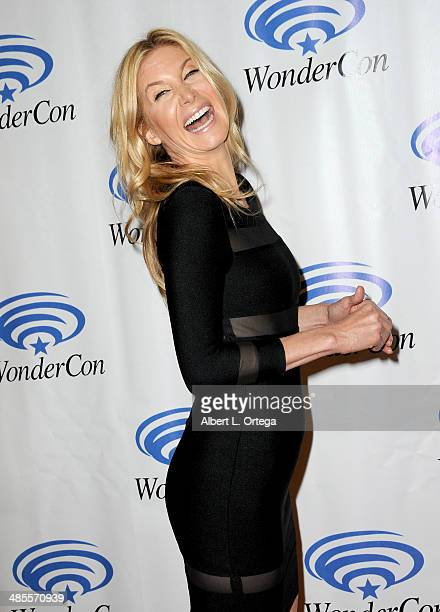 Actress Elizabeth Mitchell attends WonderCon Anaheim 2014 Day 1 held at the Anaheim Convention Center on April 18 2014 in Anaheim California