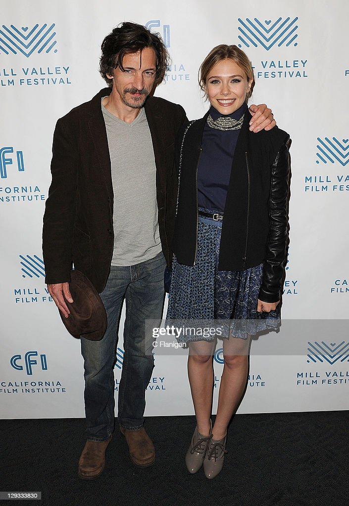 Actress Elizabeth Olsen and Actor John Hawkes attend the Martha Marcy May Marlene Screening during the 2011 Mill Valley Film Festival at Christopher B. Smith Rafael Film Center on October 15, 2011 in San Rafael, California.