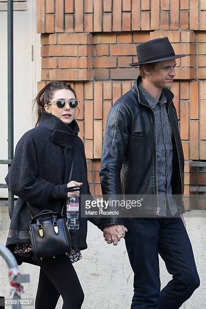 Actress Elizabeth Olsen and her boyfriend Boyd Holbrook are seen strolling on March 6 2014 in Paris France