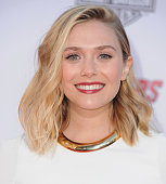 Actress Elizabeth Olsen arrives at the Los Angeles Premiere Marvel's 'Avengers Age Of Ultron' at Dolby Theatre on April 13 2015 in Hollywood...