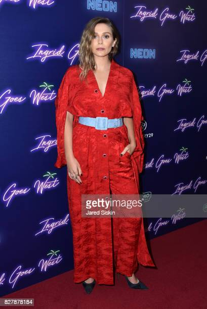 Actress Elizabeth Olsen attends Neon hosts the New York Premiere of 'Ingrid Goes West' at Alamo Drafthouse Cinema on August 8 2017 in New York City