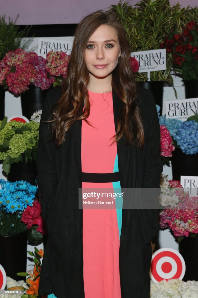 Actress Elizabeth Olsen attends Prabal Gurung for Target launch event on February 6, 2013 in New York City.