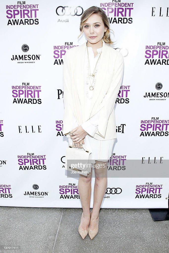 Actress Elizabeth Olsen attends the 2012 Film Independent Filmmaker Grant And Spirit Awards Nominees Brunch at BOA Steakhouse on January 14 2012 in...