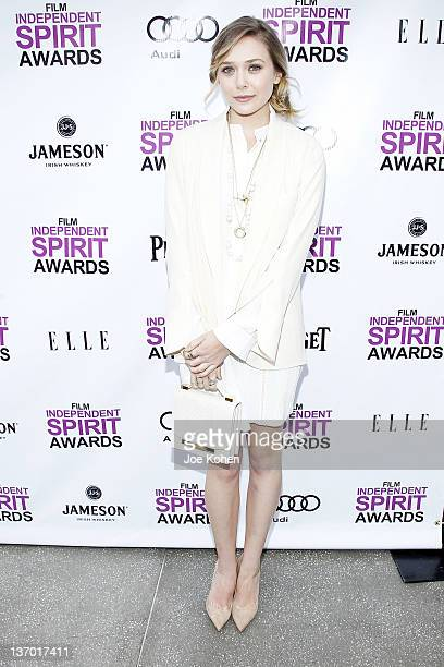 Actress Elizabeth Olsen attends the 2012 Film Independent Filmmaker Grant And Spirit Awards Nominees Brunch at BOA Steakhouse on January 14 2012 in...
