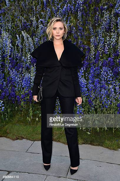Actress Elizabeth Olsen attends the Christian Dior show as part of the Paris Fashion Week Womenswear Spring/Summer 2016 on October 2 2015 in Paris...