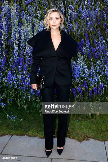 Actress Elizabeth Olsen attends the Christian Dior show as part of the Paris Fashion Week Womenswear Spring/Summer 2016 Held at Cour Carre du Louvre...