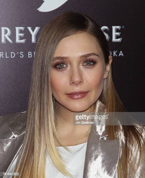 Actress Elizabeth Olsen attends the FilmDistrict Complex Media with The Cinema Society Grey Goose screening of 'Oldboy' at AMC Lincoln Square Theater...