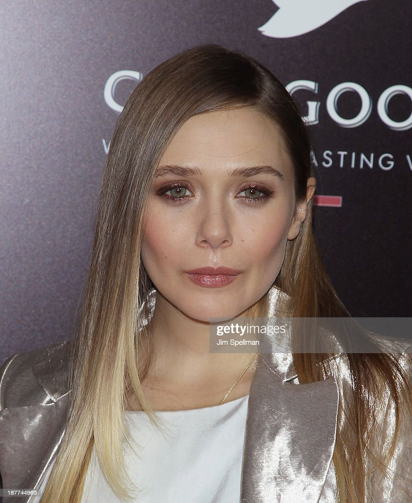 Actress <a gi-track='captionPersonalityLinkClicked' href=/galleries/search?phrase=Elizabeth+Olsen&family=editorial&specificpeople=5775031 ng-click='$event.stopPropagation()'>Elizabeth Olsen</a> attends the FilmDistrict & Complex Media with The Cinema Society & Grey Goose screening of 'Oldboy' at AMC Lincoln Square Theater on November 11, 2013 in New York City.