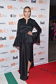 Actress Elizabeth Olsen attends the 'I Saw the Light' premiere during the 2015 Toronto International Film Festival at Ryerson Theatre on September 11...