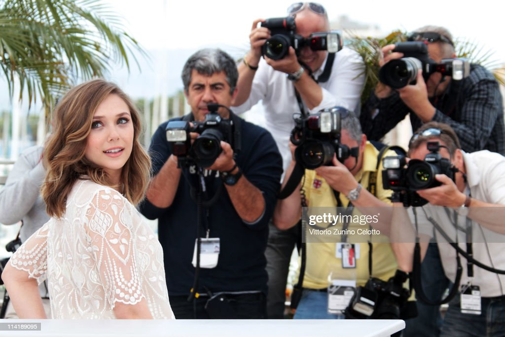 Actress <a gi-track='captionPersonalityLinkClicked' href=/galleries/search?phrase=Elizabeth+Olsen&family=editorial&specificpeople=5775031 ng-click='$event.stopPropagation()'>Elizabeth Olsen</a> attends the 'Martha Marcy May Marlene' photocall at the Palais des Festivals during 64th Cannes Film Festival on May 15, 2011 in Cannes, France.