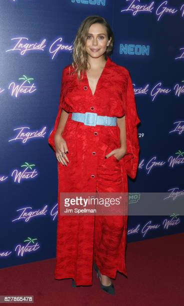Actress Elizabeth Olsen attends The New York premiere of 'Ingrid Goes West' hosted by Neon at Alamo Drafthouse Cinema on August 8 2017 in the...