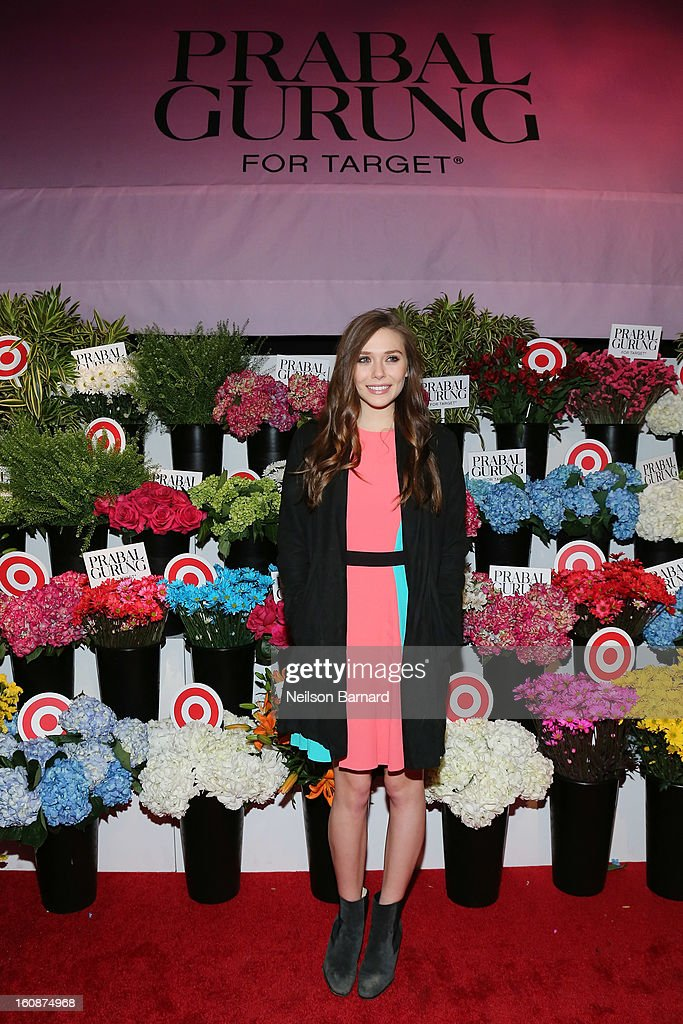 Actress Elizabeth Olsen attends the Prabal Gurung for Target launch event on February 6, 2013 in New York City.