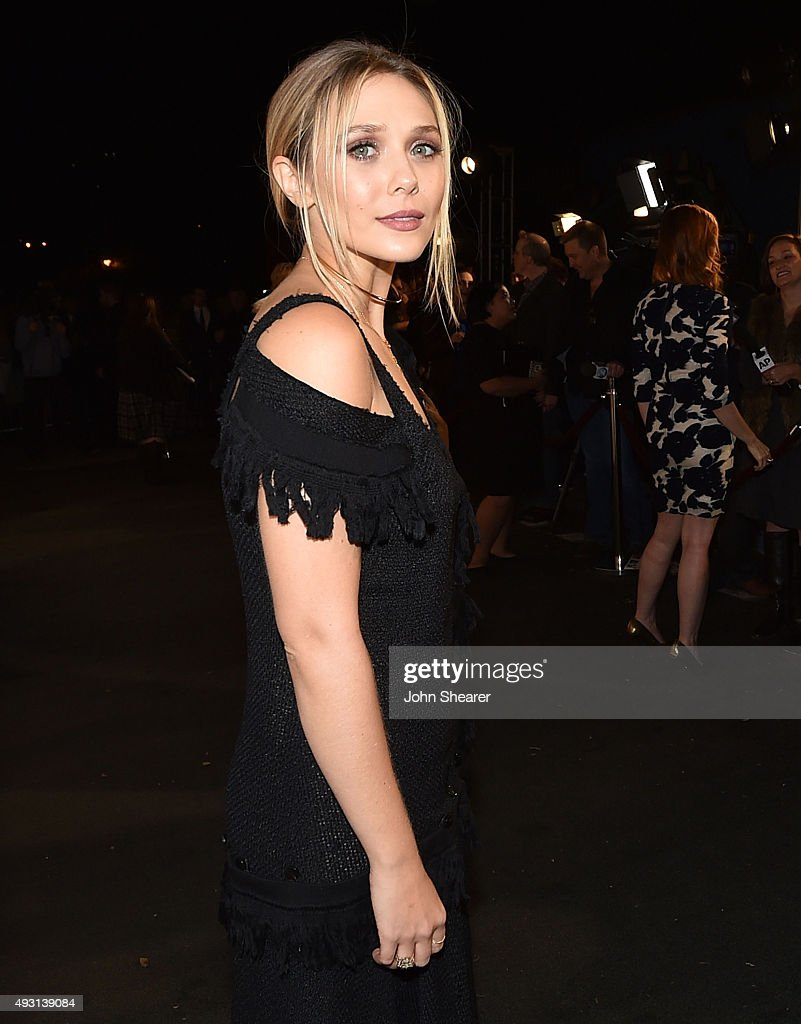 Actress Elizabeth Olsen attends the premiere of 'I Saw The Light' at The Belcourt Theatre on October 17, 2015 in Nashville, Tennessee.