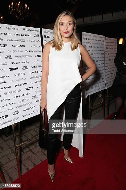 Actress Elizabeth Olsen attends the SPC Toronto Party during the 2015 Toronto International Film Festival at Creme Brasserie on September 12 2015 in...