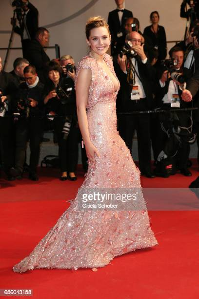 Actress Elizabeth Olsen attends the 'The Square' screening during the 70th annual Cannes Film Festival at Palais des Festivals on May 20 2017 in...