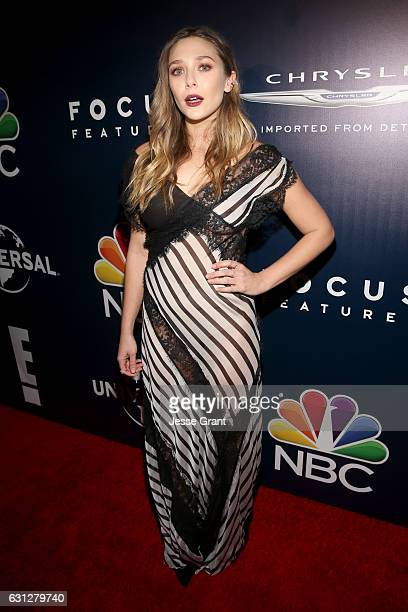 Actress Elizabeth Olsen attends the Universal NBC Focus Features E Entertainment Golden Globes after party sponsored by Chrysler on January 8 2017 in...