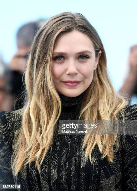 Actress Elizabeth Olsen attends the 'Wind River' photocall during the 70th annual Cannes Film Festival at Palais des Festivals on May 20 2017 in...