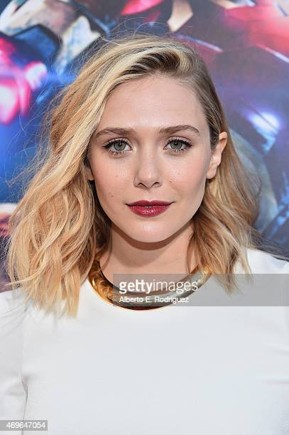 Actress Elizabeth Olsen attends the world premiere of Marvel's 'Avengers Age Of Ultron' at the Dolby Theatre on April 13 2015 in Hollywood California