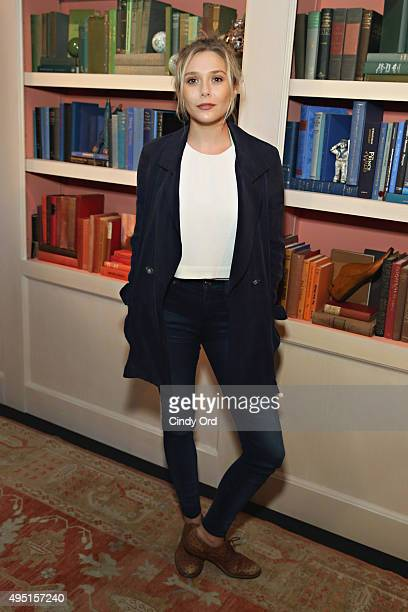 Actress Elizabeth Olsen of 'I Saw the Light' poses for a photo during Talent Junket Interview at The Jen Library during Day Eight of 18th Annual...