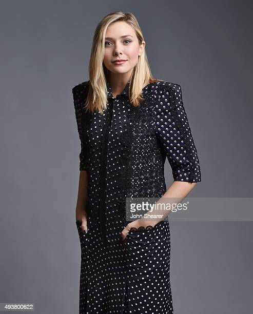 Actress Elizabeth Olsen poses for a portrait at the 'I Saw The Light' press day on October 17 2015 in Nashville Tennessee