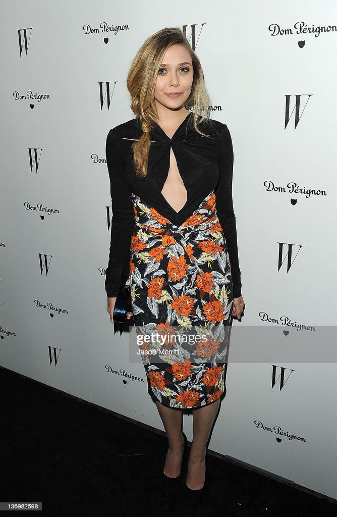 Actress Elizabeth Olson arrives at the W Magazine Best Performances Issue and The Golden Globes celebration hosted by Dom Perignon and W Magazine...