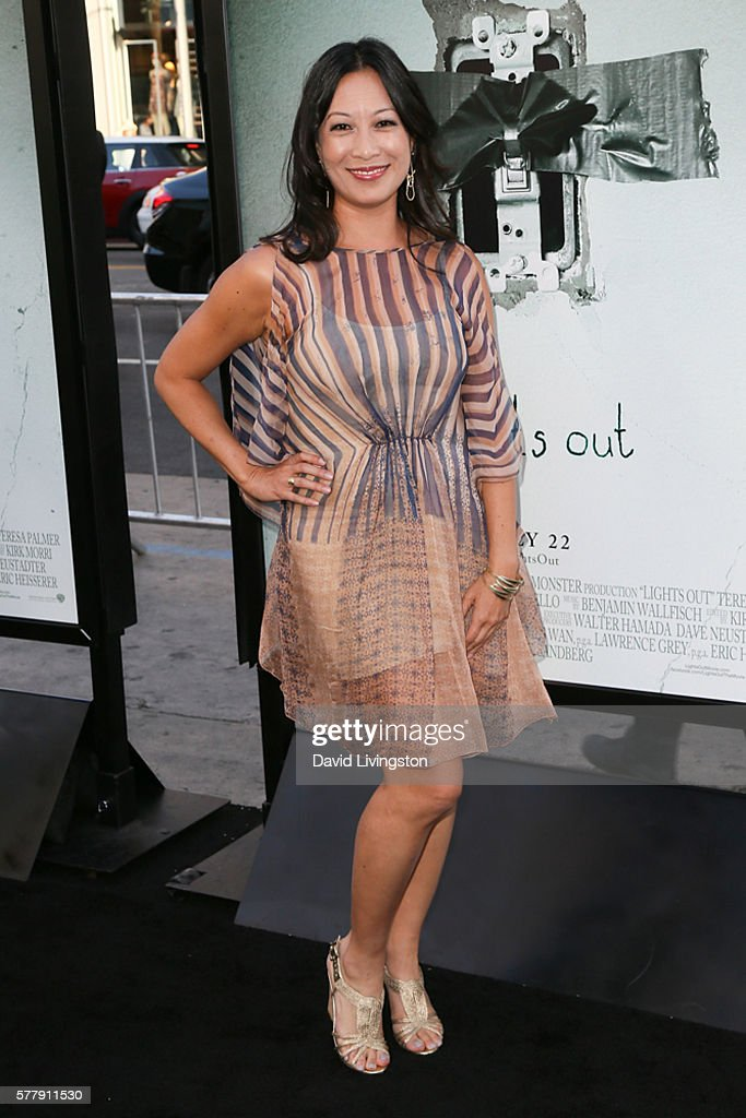 Actress Elizabeth Pan arrives at the premiere of New Line Cinema's 'Lights Out' at the TCL Chinese Theatre on July 19 2016 in Hollywood California