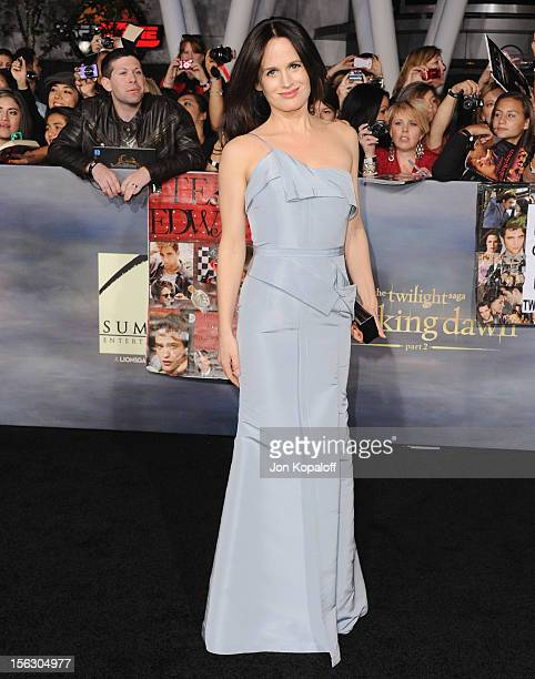 Actress Elizabeth Reaser arrives at the Los Angeles Premiere 'The Twilight Saga Breaking Dawn Part 2' at Nokia Theatre LA Live on November 12 2012 in...
