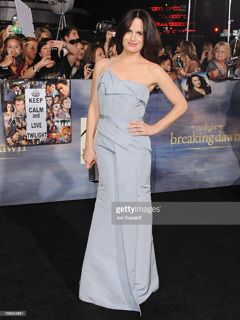 Actress Elizabeth Reaser arrives at the Los Angeles Premiere 'The Twilight Saga: Breaking Dawn - Part 2' at Nokia Theatre L.A. Live on November 12, 2012 in Los Angeles, California.