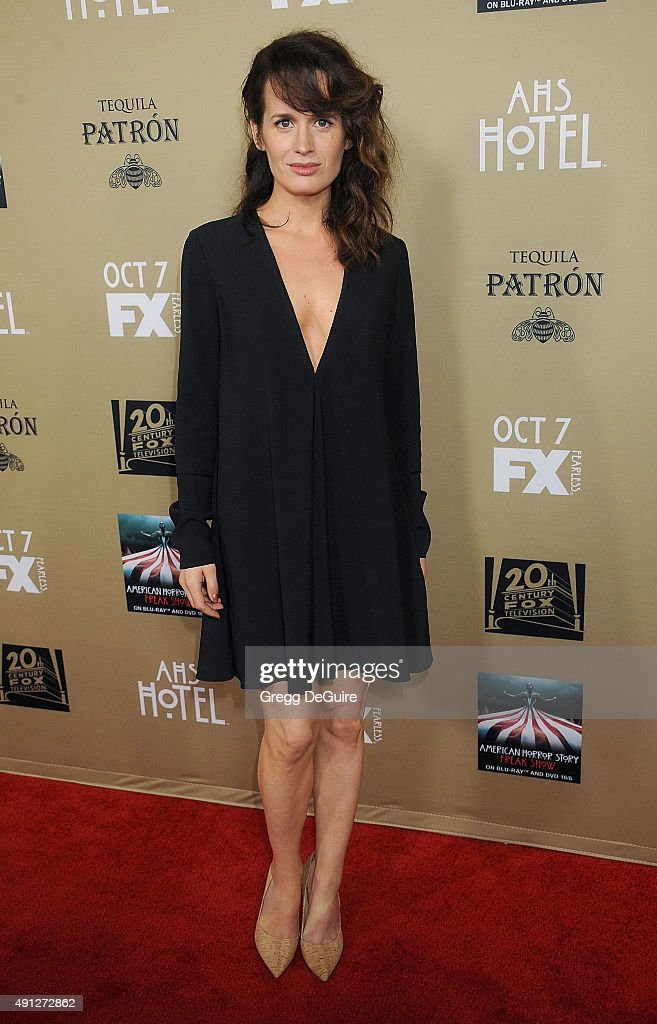 Actress Elizabeth Reaser arrives at the premiere screening of FX's 'American Horror Story Hotel' at Regal Cinemas LA Live on October 3 2015 in Los...