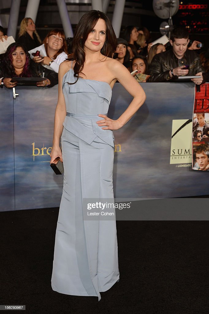 Actress Elizabeth Reaser arrives at 'The Twilight Saga: Breaking Dawn - Part 2' Los Angeles premiere at the Nokia Theatre L.A. Live on November 12, 2012 in Los Angeles, California.