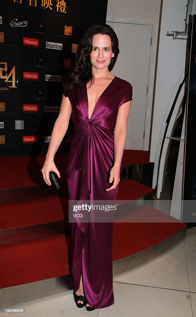 Actress <a gi-track='captionPersonalityLinkClicked' href=/galleries/search?phrase=Elizabeth+Reaser&family=editorial&specificpeople=550324 ng-click='$event.stopPropagation()'>Elizabeth Reaser</a> attends the 'Twilight Saga: Breaking Dawn Part 2' premiere at the Grand Cinema on December 12, 2012 in Hong Kong.
