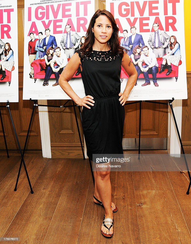 Actress <a gi-track='captionPersonalityLinkClicked' href=/galleries/search?phrase=Elizabeth+Rodriguez&family=editorial&specificpeople=736864 ng-click='$event.stopPropagation()'>Elizabeth Rodriguez</a> attends the 'I Give It A Year' New York Screening at the Crosby Street Theater on July 30, 2013 in New York City.