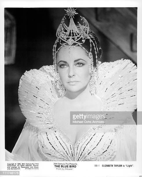 Actress Elizabeth Taylor as Queen of Light in a scene from the film 'The Blue Bird' 1976