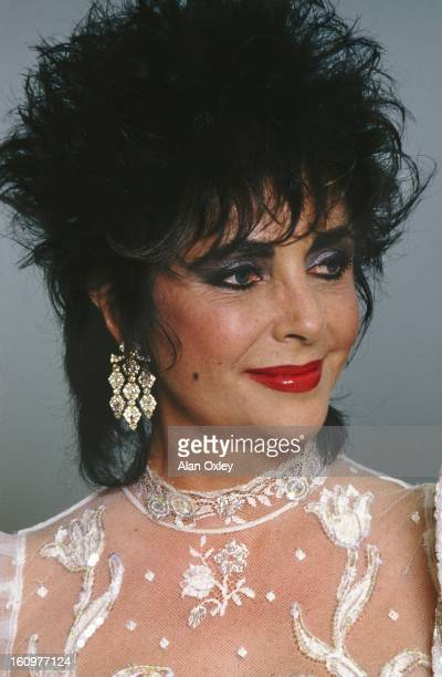 Actress Elizabeth Taylor at an AIDS benefit on Miami Beach in March 1988