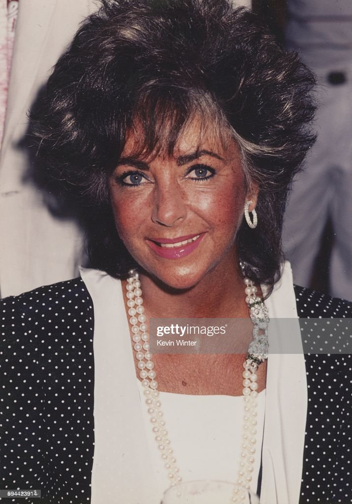 Actress Elizabeth Taylor attends an event in circa 1990 in Los Angeles California