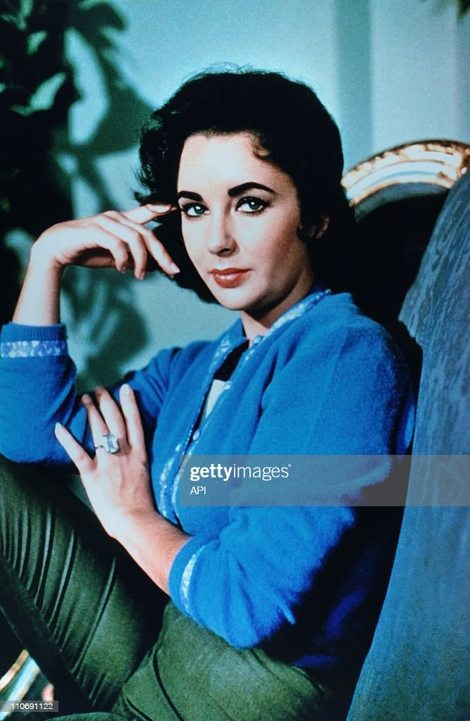 Actress Elizabeth Taylor poses during a portrait session during the 1950's in the USA.