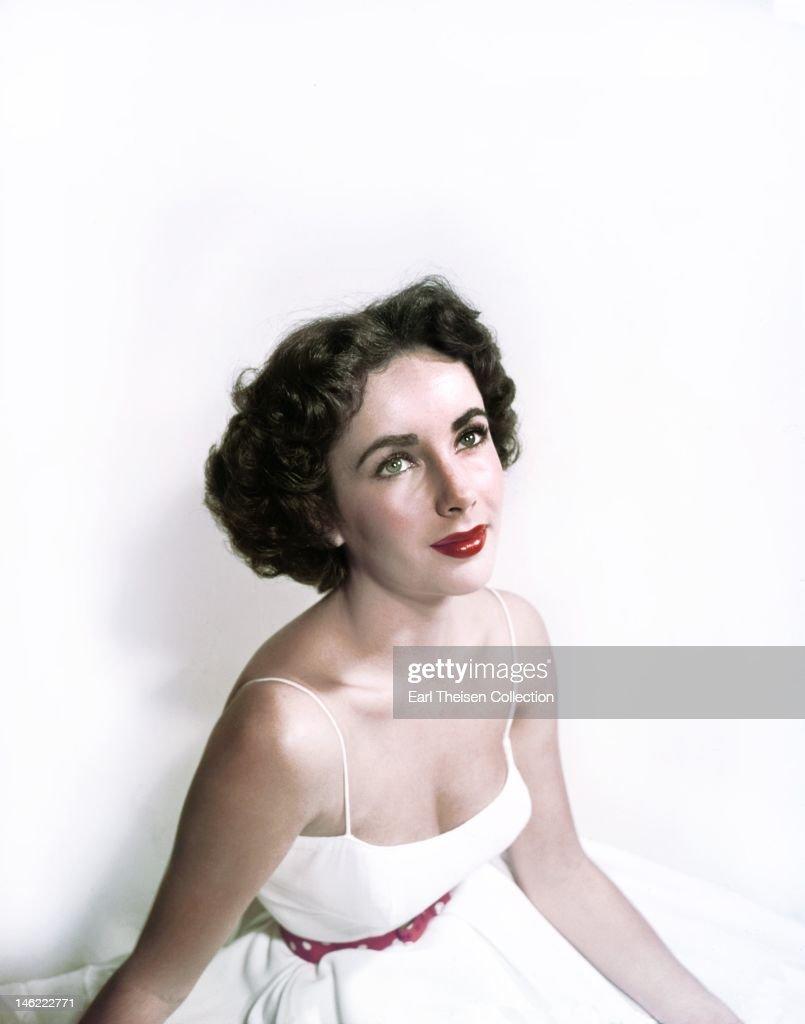 Actress ElizabethTaylor poses for a portrait circa 1953 in Los Angeles, California.
