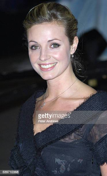 Actress Elize du Toit arrives at the Royal Film Performace and World Premiere of 'The Chronicles of Narnia' at the Royal Albert Hall London The...